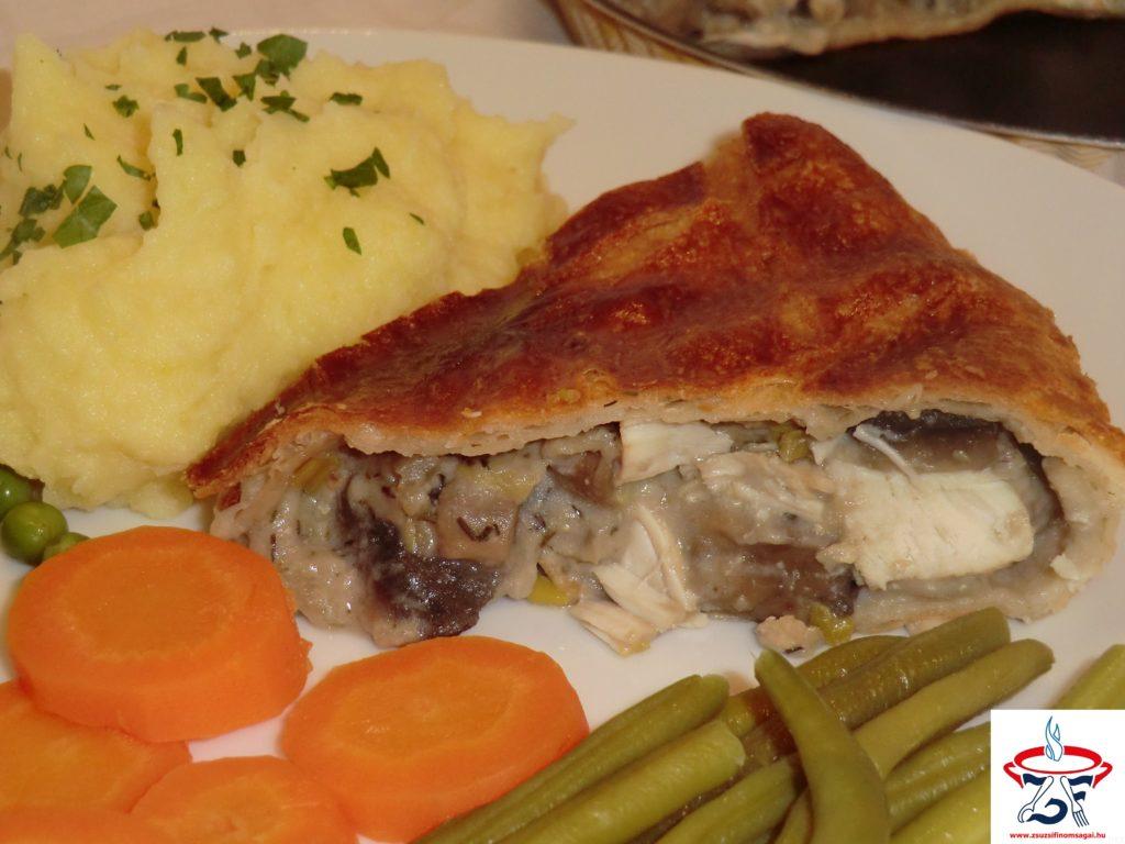 Csirkés-gombás pite1