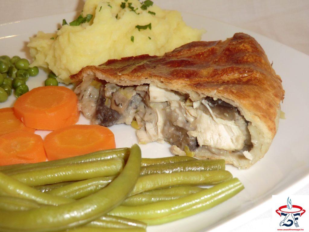 Csirkés-gombás pite2